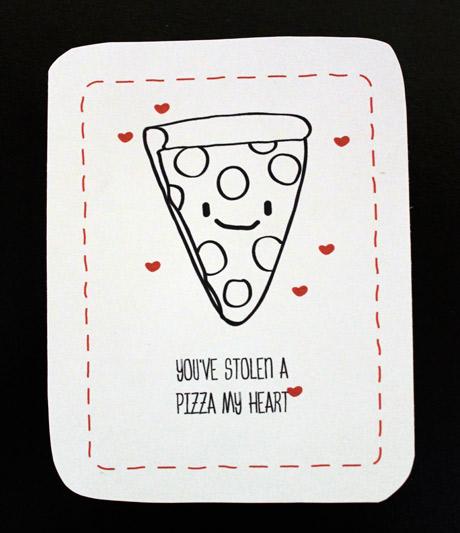 Valentineu0027s Day Cards   Pizza