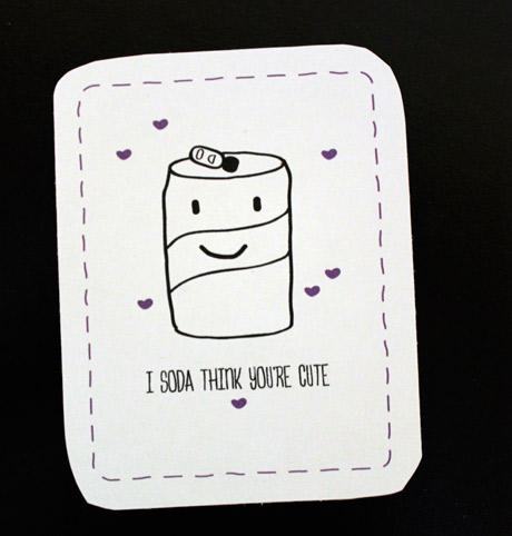 Valentine's Day Cards - Soda